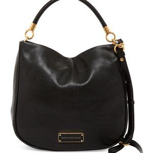 Marc Jacobs Black Leather Hobo Bag, Very Good